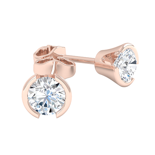 An exquisite pair of diamond earrings with round brilliant cut diamonds in  18ct rose gold - Ringfield London Diamond Jewellery a55ad779db